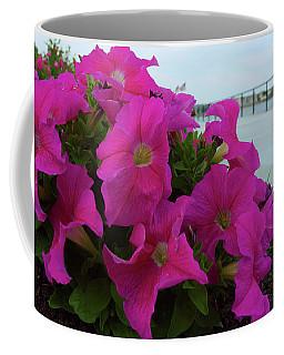 Walkway Petunias Coffee Mug