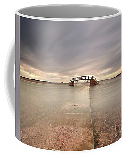 Coffee Mug featuring the photograph Walkway To The Stairs by Maria Gaellman