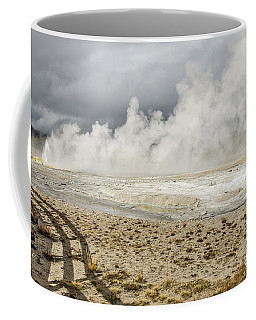 Coffee Mug featuring the photograph Wall Of Steam by Sue Smith