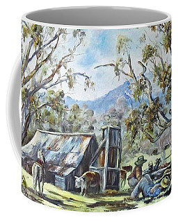 Wallace Hut, Australia's Alpine National Park. Coffee Mug