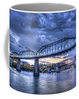 Walnut Street Pedestrian Bridge Sunset Chattanooga Tennessee Art Coffee Mug