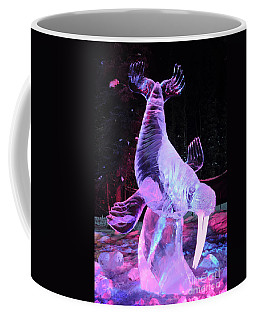 Coffee Mug featuring the photograph Walrus Ice Art Sculpture - Alaska by Gary Whitton