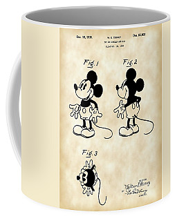 Walt Disney Mickey Mouse Patent 1929 - Vintage Coffee Mug
