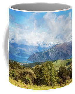 Coffee Mug featuring the photograph Wanaka New Zealand Painterly by Joan Carroll