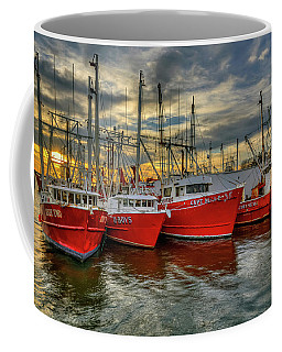 Coffee Mug featuring the photograph Wanchese Fleet Hampton by Jerry Gammon