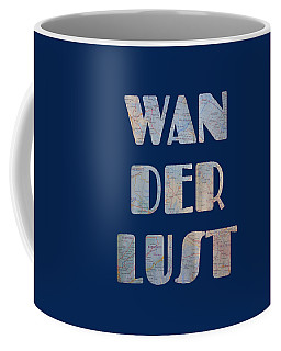 Wanderlust Map Blue Coffee Mug