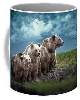 Wanna Go For A Moonlight Swim Coffee Mug by Diane Schuster