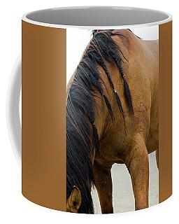 Coffee Mug featuring the photograph War Horse by Lorraine Devon Wilke