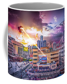 Coffee Mug featuring the photograph War Of The Worlds Detroit By Nicholas Grunas by Nicholas  Grunas