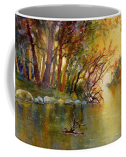 Warm Autumn Light Over The River Rhein Coffee Mug