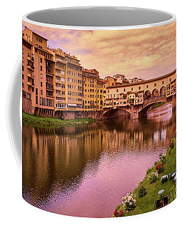 Sunset At Ponte Vecchio In Florence, Italy Coffee Mug