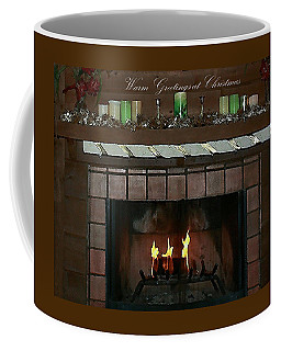 Warm Greetings At Christmas Coffee Mug by Ellen O'Reilly