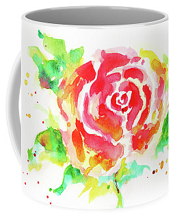 Warm Red Rose  Coffee Mug by Nada Meeks
