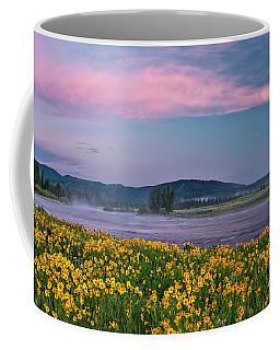Warm River Spring Sunrise Coffee Mug by Leland D Howard