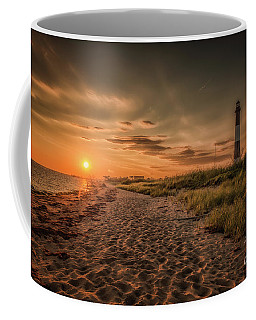 Warm Sunrise At The Fire Island Lighthouse Coffee Mug