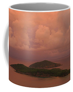 Warm Sunset Palette Of Inner And Outer Brass Islands From St. Thomas Coffee Mug by Jetson Nguyen