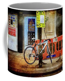 Warning Bicycle Suspended Coffee Mug