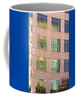 Coffee Mug featuring the photograph Warped Window Reflectionss by Linda Phelps