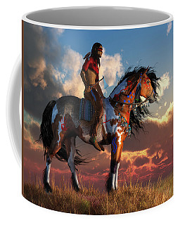 Warrior And War Horse Coffee Mug