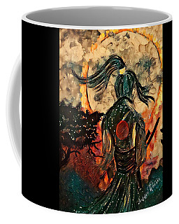 Warrior Moon Coffee Mug by Vennie Kocsis