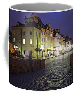 Warsaw At Night In Poland Coffee Mug