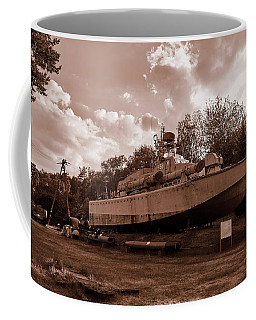 Coffee Mug featuring the photograph Warship by Tgchan