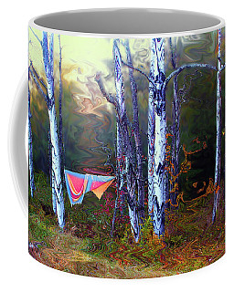 Coffee Mug featuring the photograph Washday In The Magic Grove by Wayne King