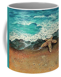 Coffee Mug featuring the painting Washed A Shore by Darice Machel McGuire