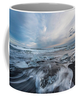 Washed Up Ice Sunset Coffee Mug