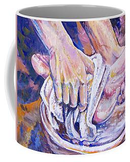 Washing Feet Coffee Mug