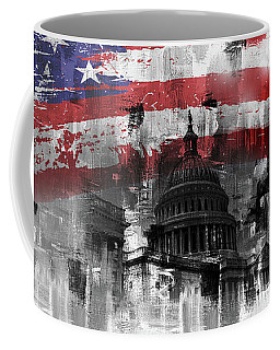 Coffee Mug featuring the painting Washington Dc Building 01a by Gull G