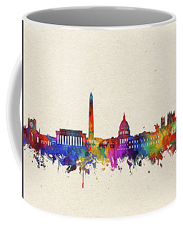 Washington Dc Skyline Watercolor 2 Coffee Mug