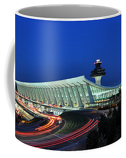 Washington Dulles International Airport At Dusk Coffee Mug by Paul Fearn