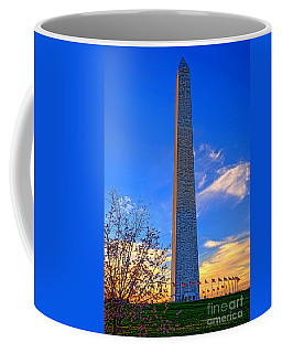 Washington Monument And Cherry Tree  Coffee Mug