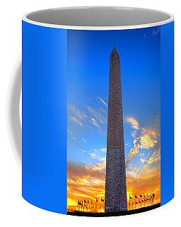 Washington Monument At Sunset  Coffee Mug