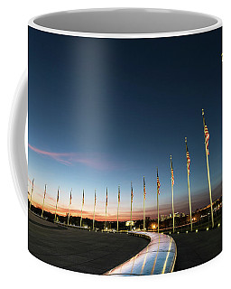 Washington Monument Flags Coffee Mug