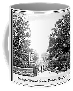 Washington Monument Grounds Baltimore 1900 Vintage Photograph Coffee Mug