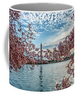 Washington Monument Through Cherry Blossoms Coffee Mug