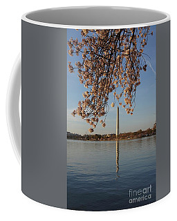 Washington Monument With Cherry Blossoms Coffee Mug
