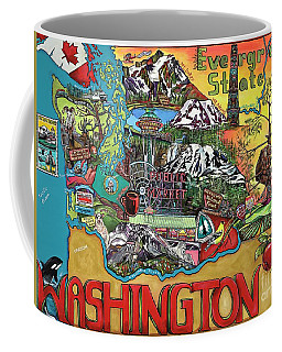 Washington State Map Coffee Mug
