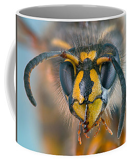 Coffee Mug featuring the photograph Wasp Portrait by Alexey Kljatov