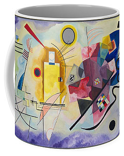 Coffee Mug featuring the painting Wassily Kandinsky,jaune Rouge Bleu by Celestial Images