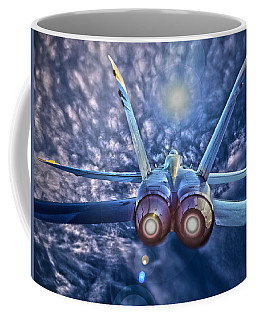Coffee Mug featuring the photograph Watch Your Six by Robert Geary
