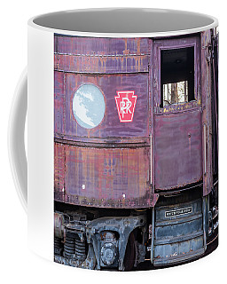 Watch Your Step Vintage Railroad Car Coffee Mug by Terry DeLuco
