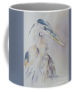 Coffee Mug featuring the painting Watching by Mary Haley-Rocks