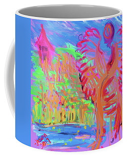 Watching Over The Little Pink House Coffee Mug