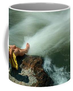 Watching The Rushing Water Coffee Mug