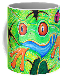Watching You Red Eyed Tree Frog Coffee Mug