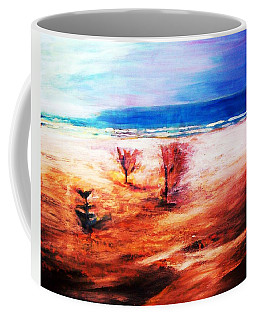 Coffee Mug featuring the painting Water And Earth by Winsome Gunning