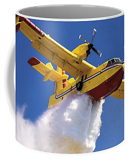 Coffee Mug featuring the digital art Water Bomber by James Weatherly